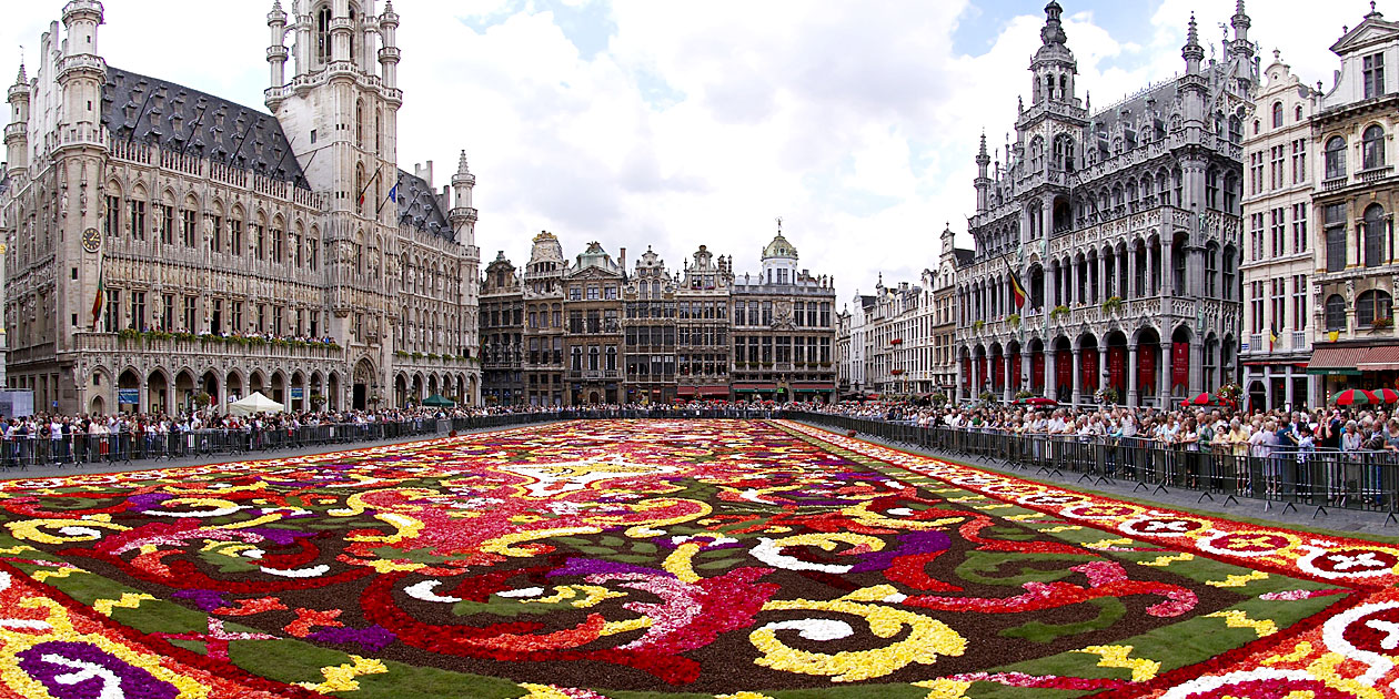 Belgium Brussels Floral Carpet