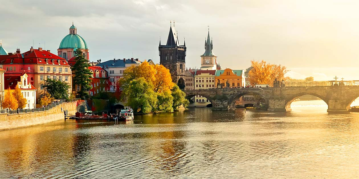 River Vltava City Charles Bridge