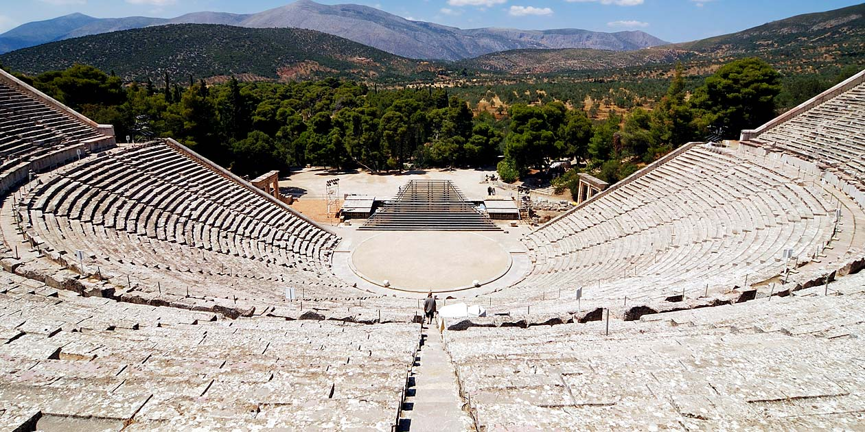 greece epidaurus theatre