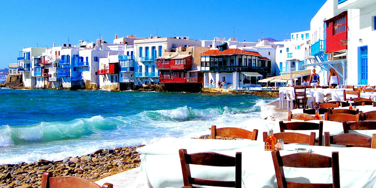 Greece Neighborhood of Mykonos Island
