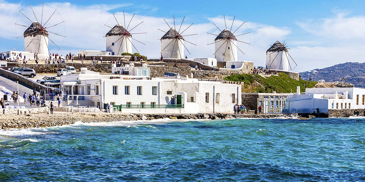 Greece Mykonos Island Windmills