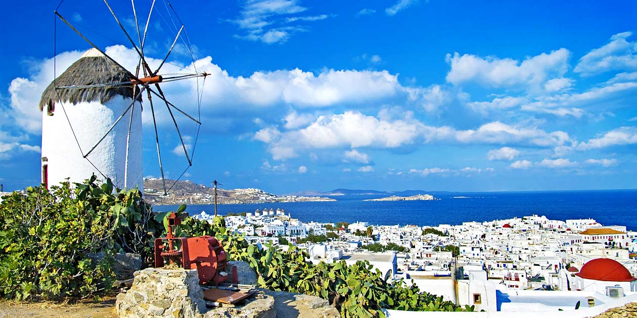 Beauty of Mykonos Island Windmills